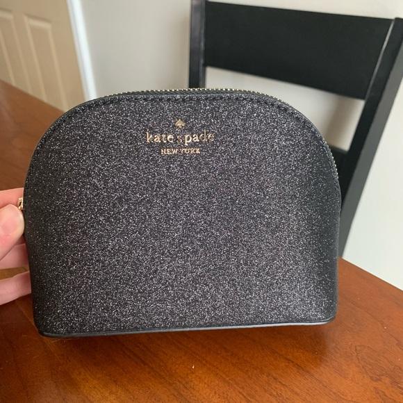 kate spade Handbags - Kate Spade ♠️ Small Dome Cosmetic Bag Black NWT!